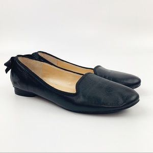MARC FISHER Black Leather Ballet Flats Loafers 6.5